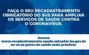 SUS Recadastramento Prefeitura de Salvador BA