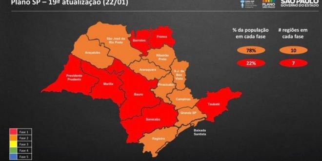 Governador João Dória anuncia que SP vai para fase vermelha